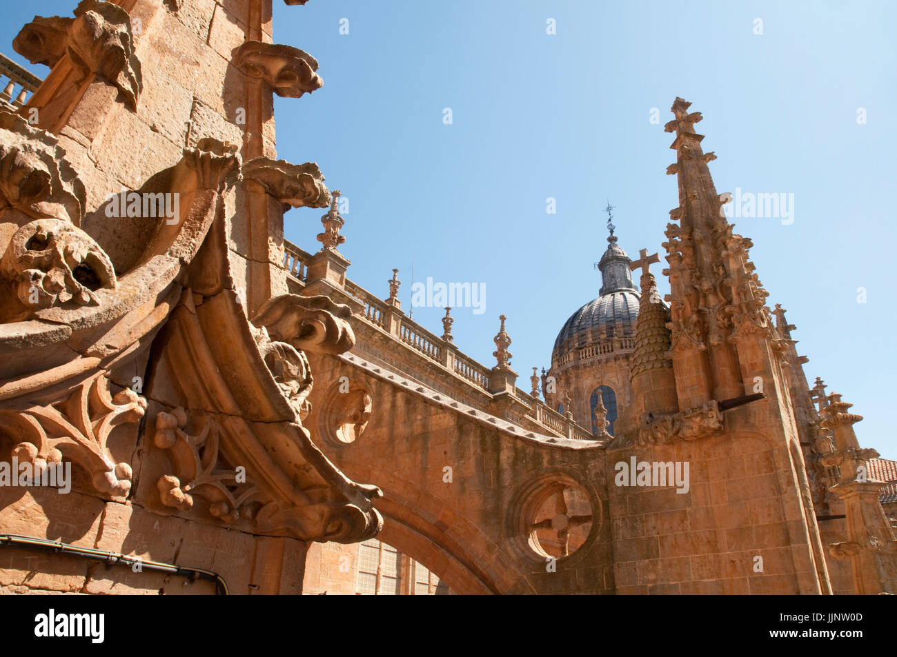 View from the terrace of the New Cathedral. Salamanca, Castile Leon, Spain. - Stock Image