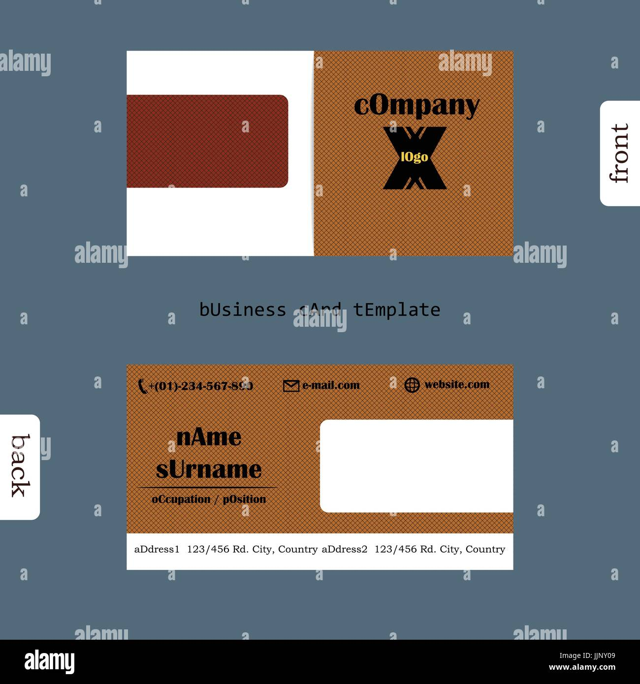 Design simple creative and clean business card template. Show front ...