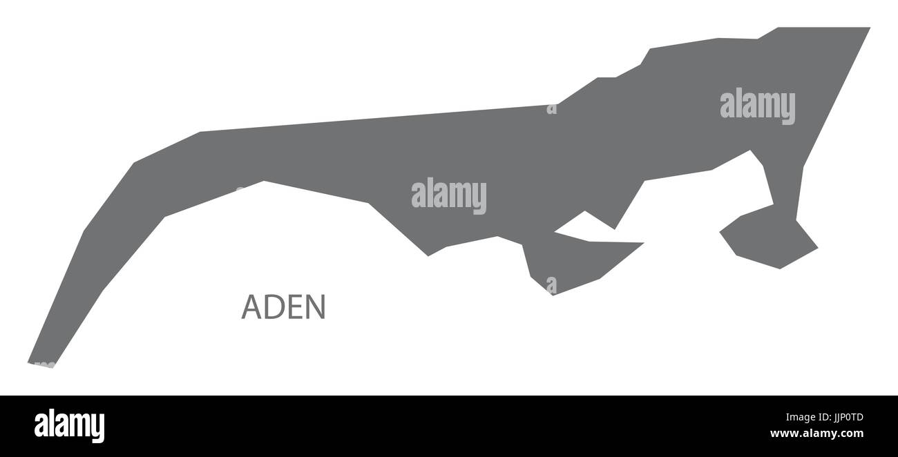 Aden Yemen governorate map grey illustration silhouette shape Stock Vector