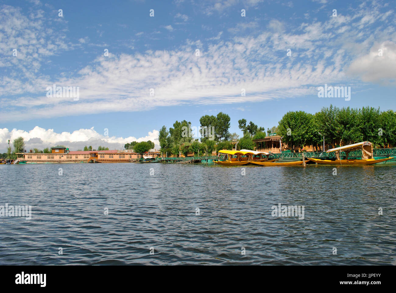 Dal Lake, Srinagar, Jammu and Kashmir, India Stock Photo