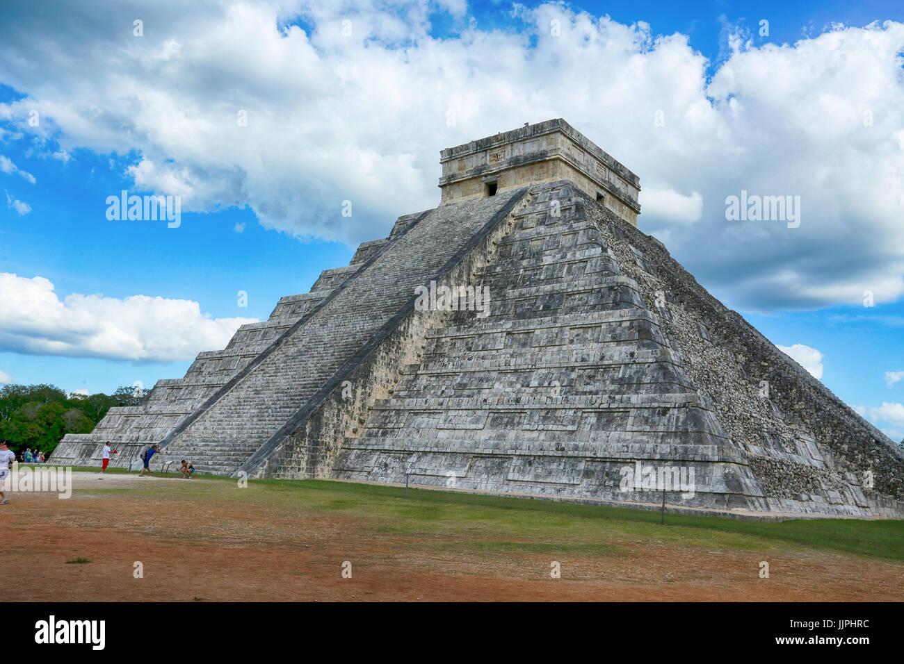 The Mayan ruins at Chichen Itza, Yucatan, Mexico - Stock Image
