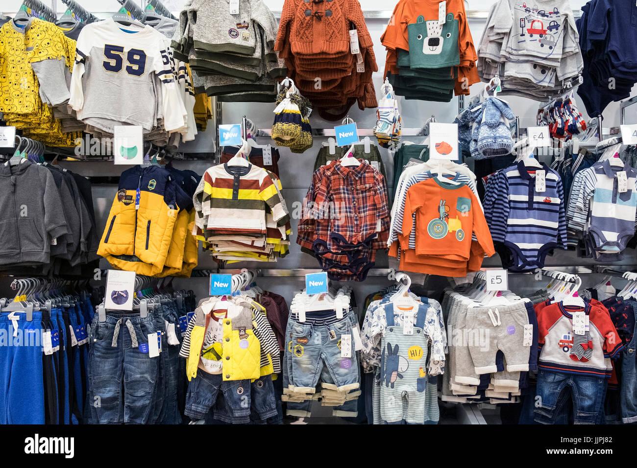 children 39 s clothes store stock photos children 39 s clothes. Black Bedroom Furniture Sets. Home Design Ideas