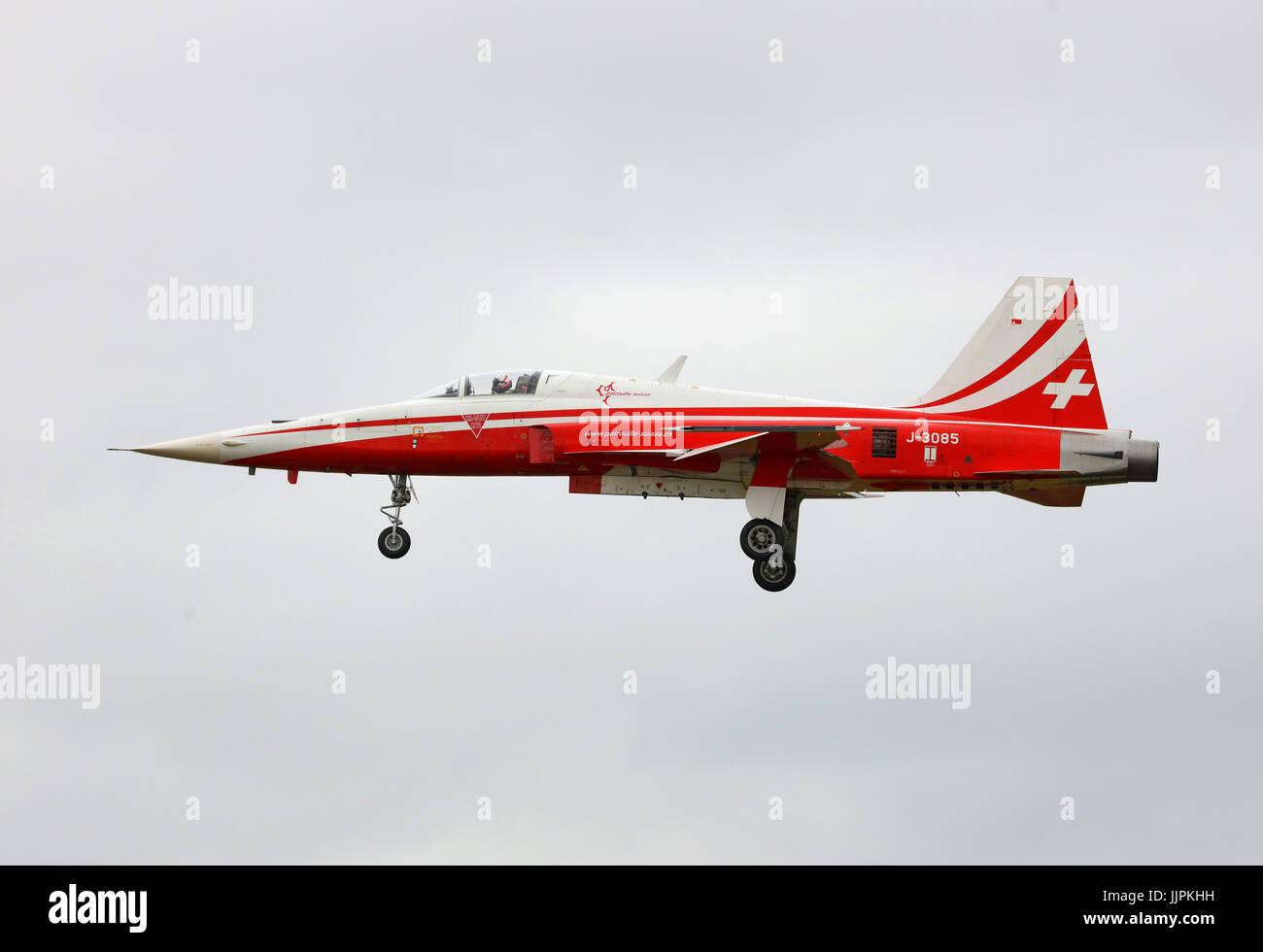 Patrouille Suisse aerobatics Stock Photo