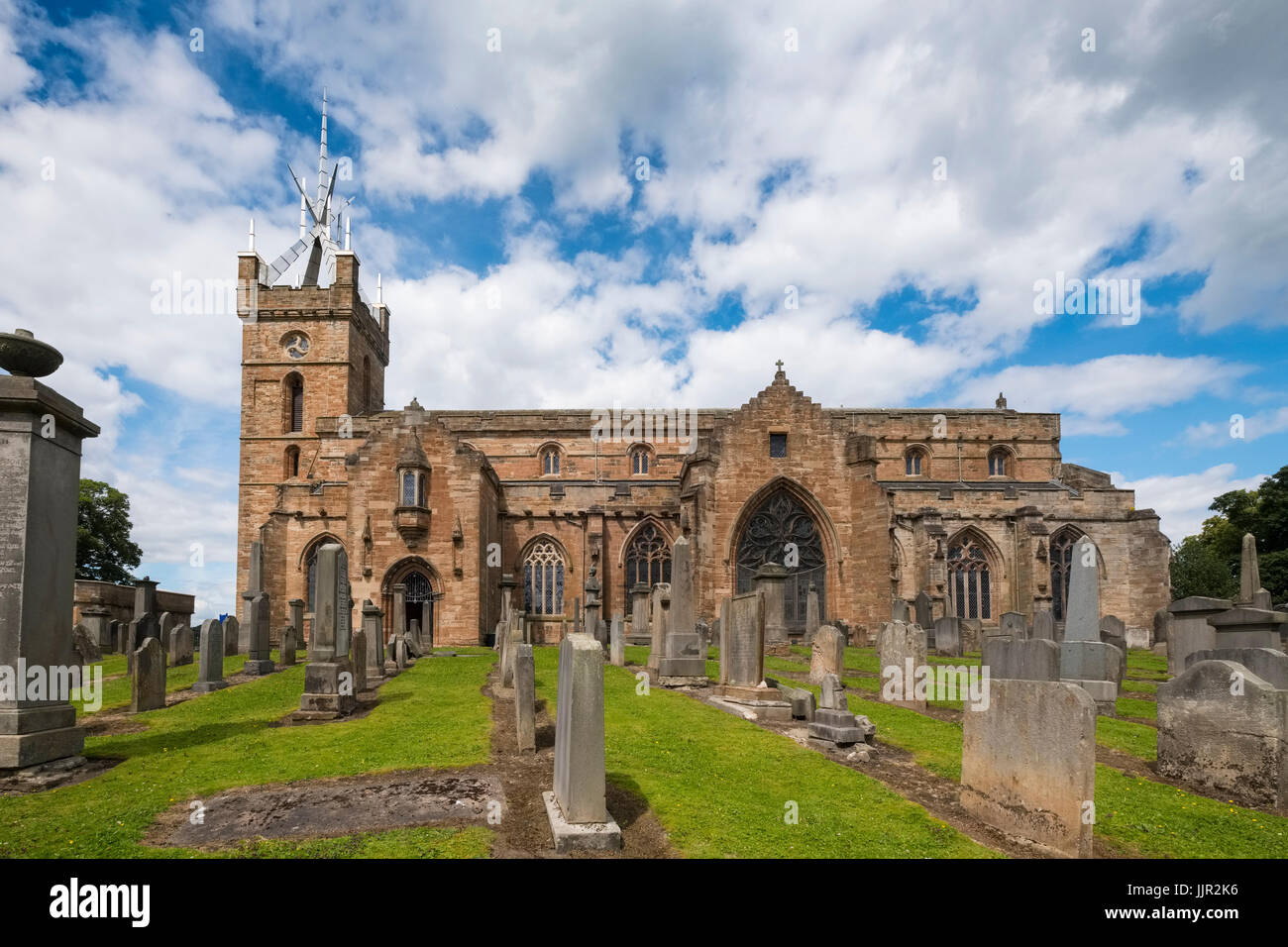 Church of St Michael's parish at Linlithgow Palace in Scotland, United Kingdom Stock Photo