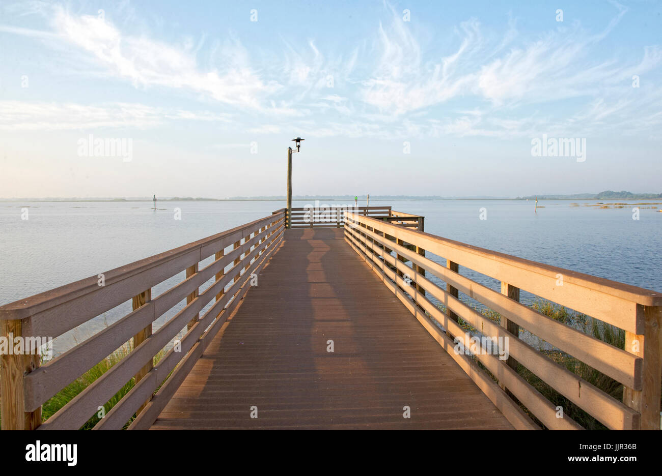 Fishing platform at Lake Toho, Kissimmee, Florida. Stock Photo