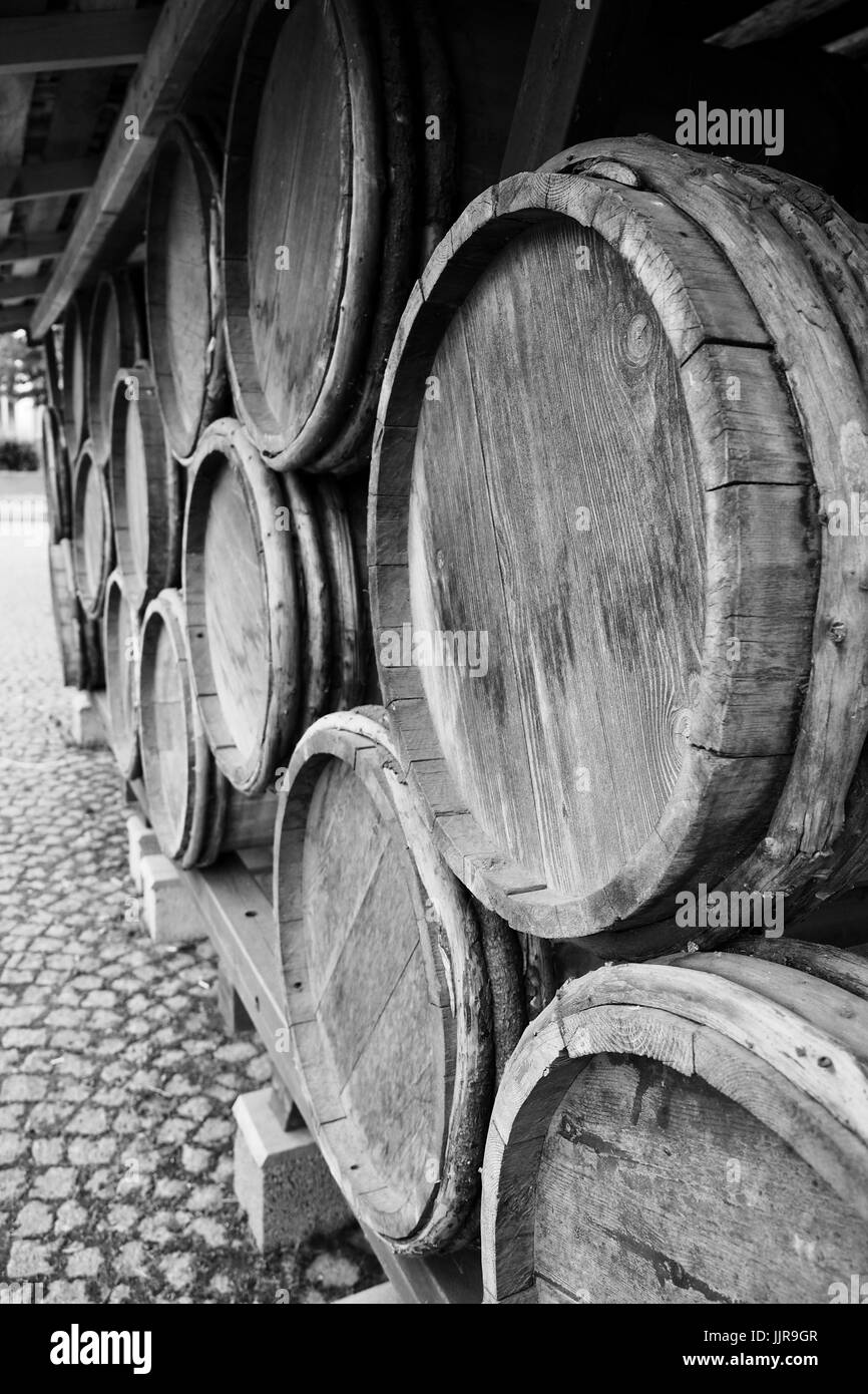 Tar Barrels in Oulu Market Place - Stock Image