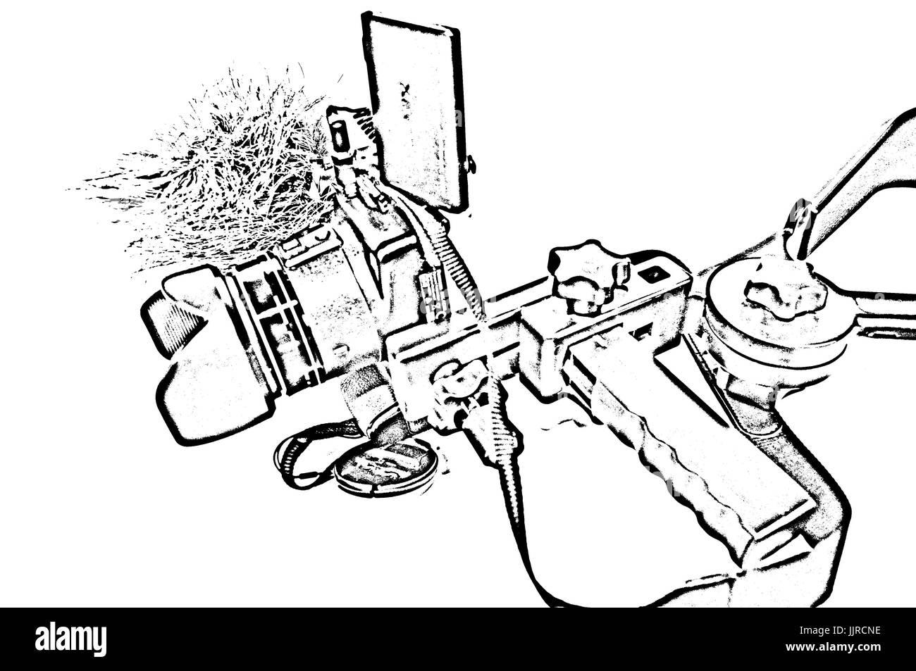 Video Shooting, Pop Art Filter, Studio Work. - Stock Image