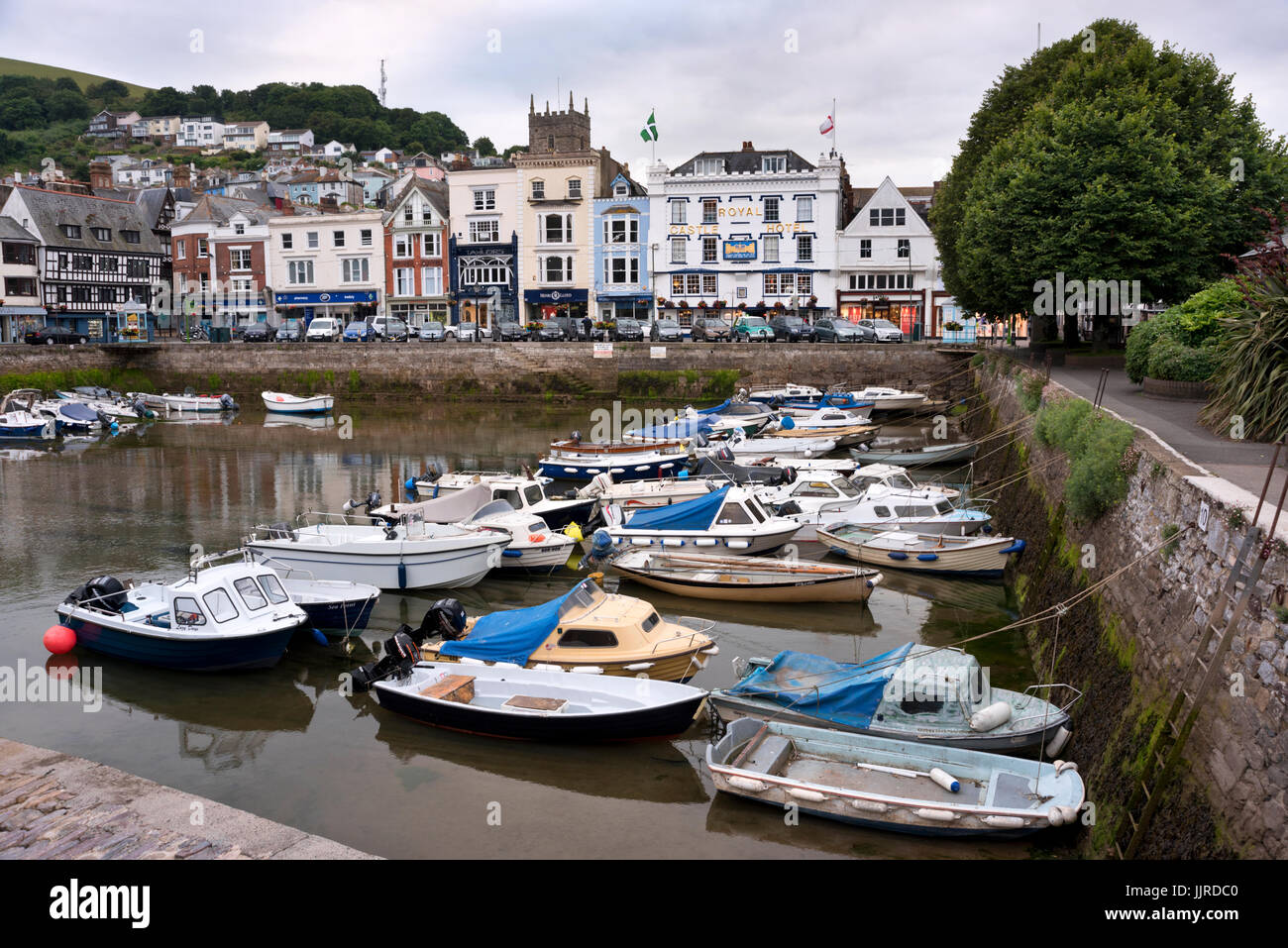 Old harbour, The Quay, Dartmouth, Devon, UK Stock Photo