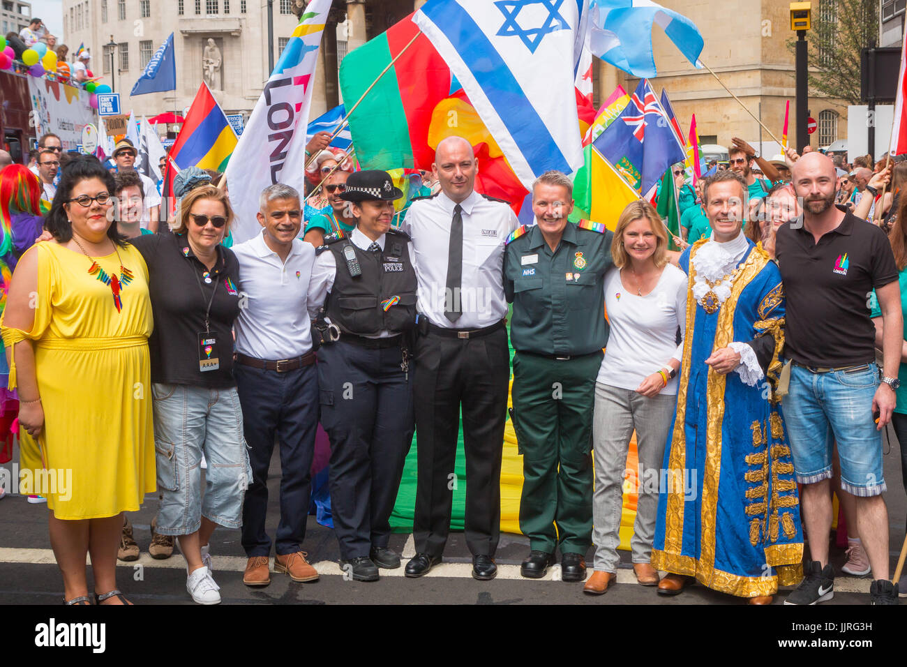 Mayor of London at Pride in London 2017 - opening of the parade - Stock Image