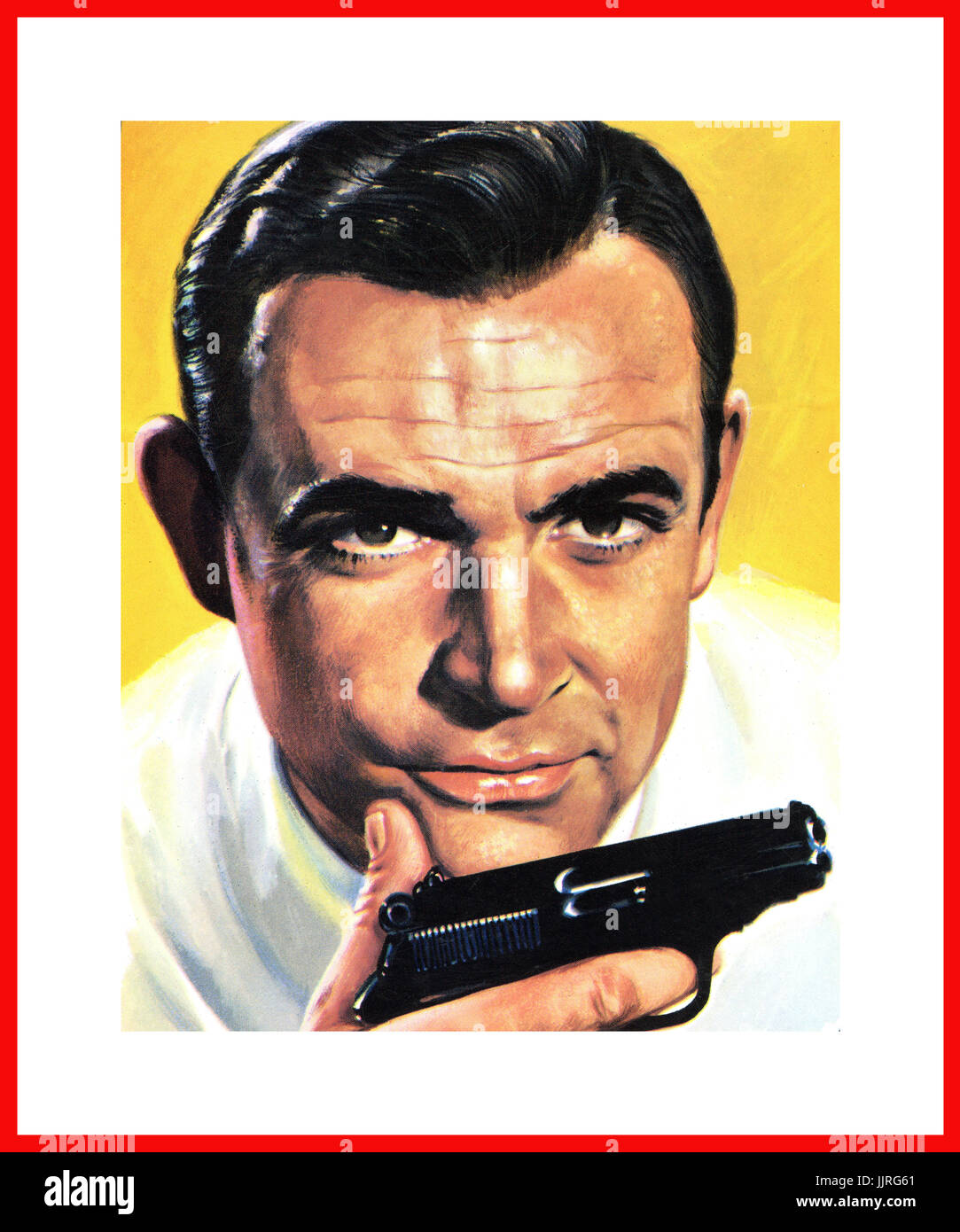 1960 S James Bond Walther Ppk Pistol Portrait Photo Illustration Stock Photo Alamy