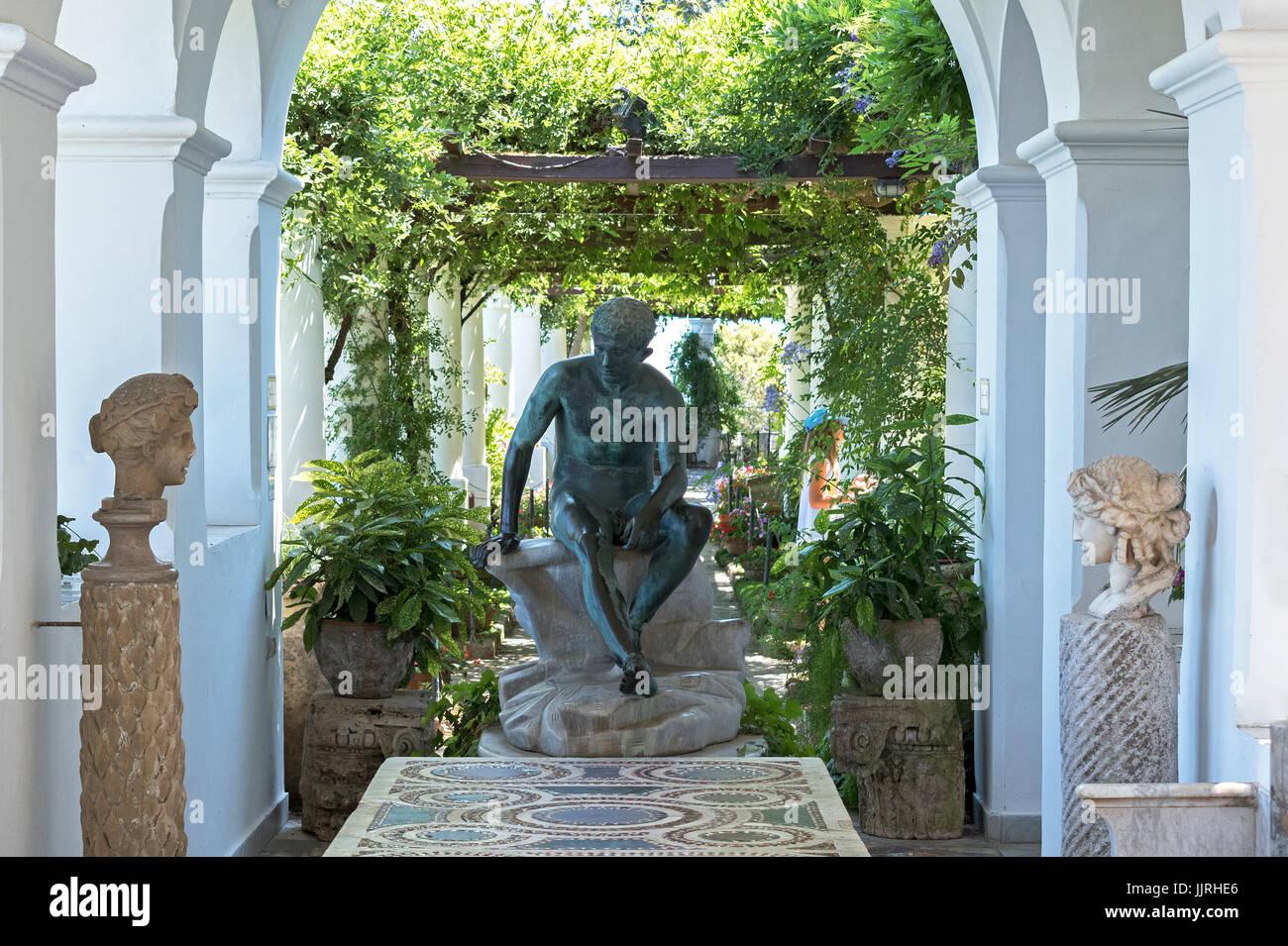 villa san michele at anacapri on the island of capri. Black Bedroom Furniture Sets. Home Design Ideas