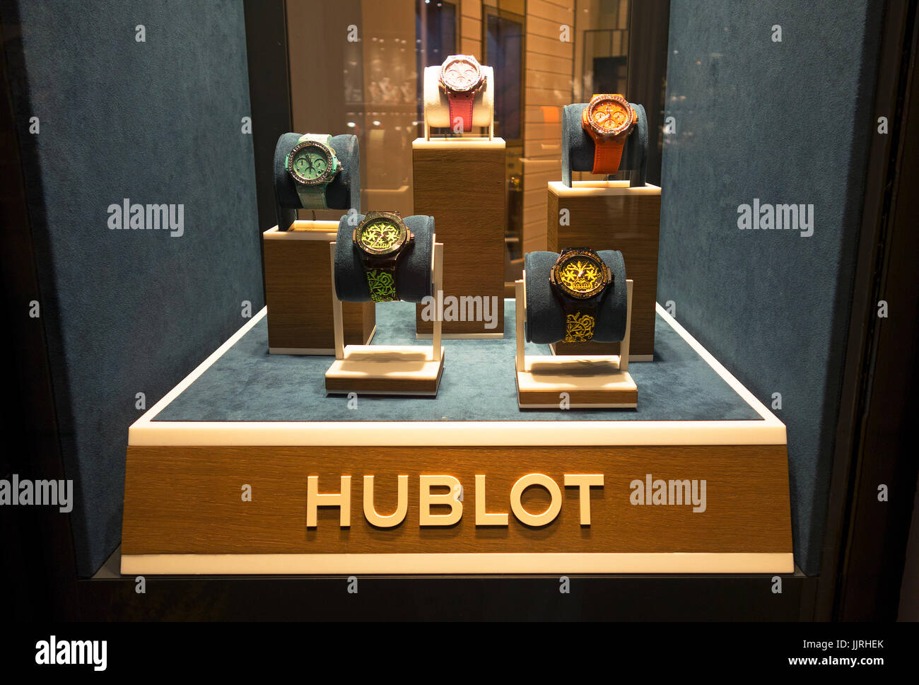 Hublot watch display - Stock Image