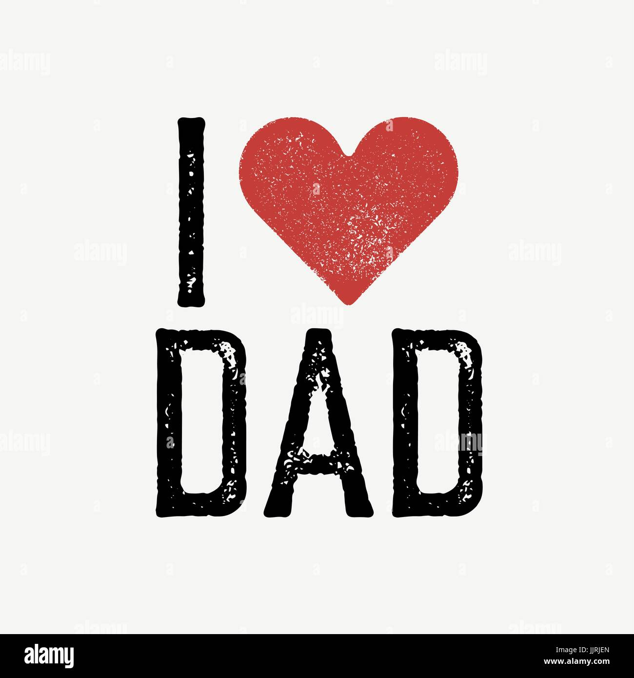 i love dad text with red heart t shirt print design template stock