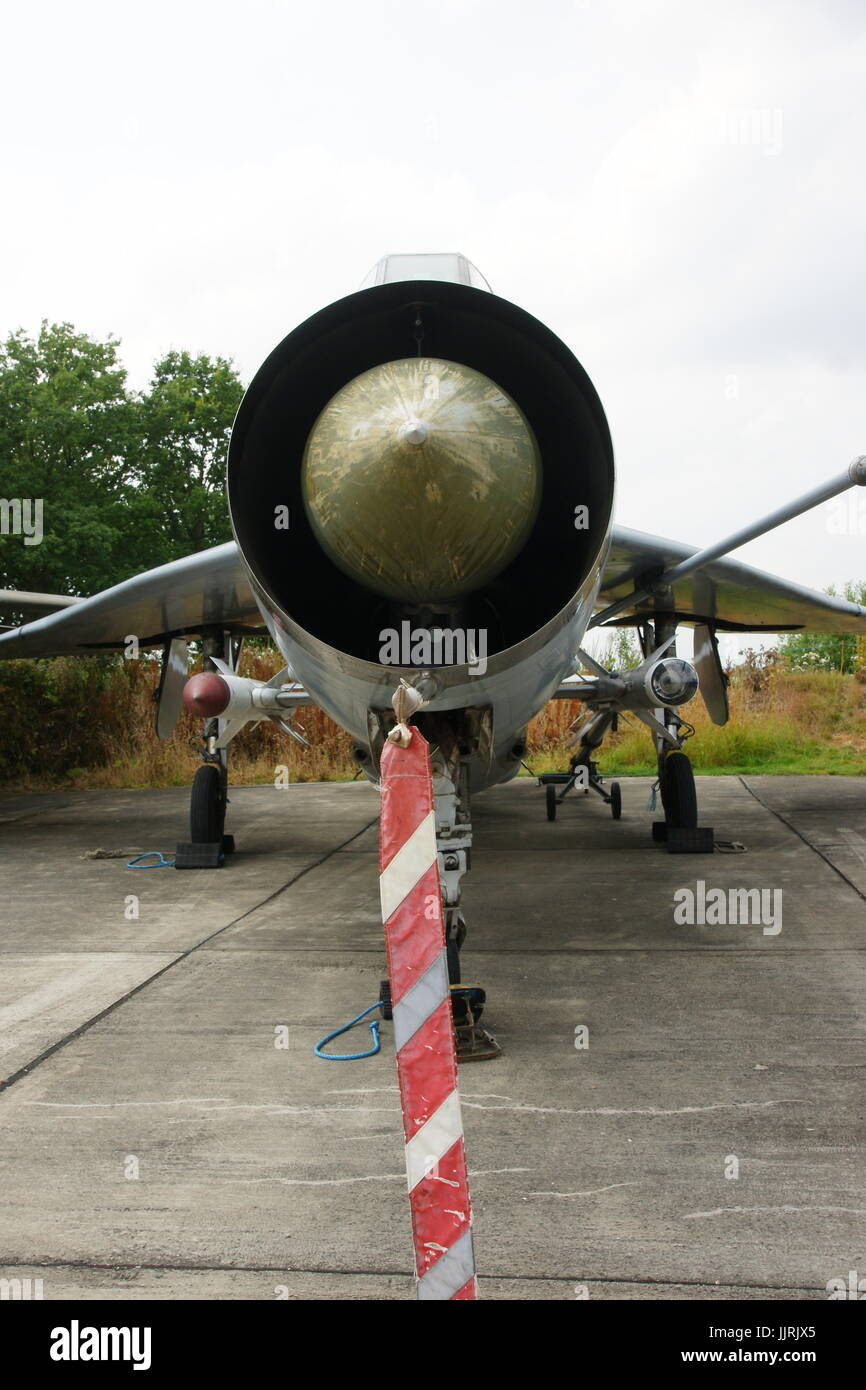 english electric lightning, cold war all weather supersonic interceptor - Stock Image