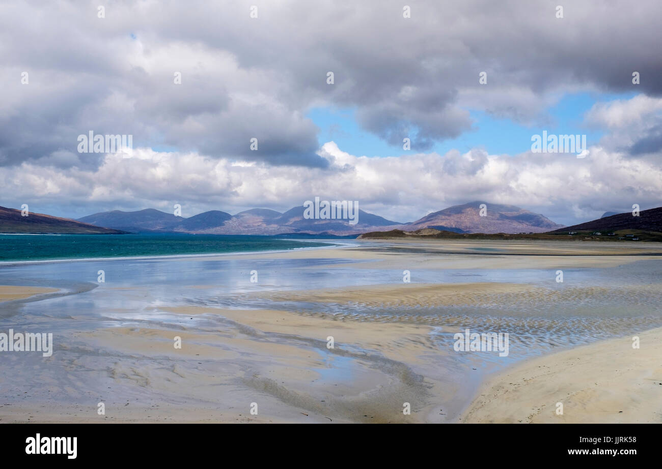 LEWIS AND HARRIS, SCOTLAND - CIRCA APRIL 2016: Beach on the outer islands of Lewis and Harris in Scotland. - Stock Image
