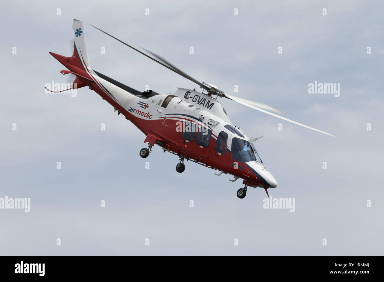Air Medic helicopter taking off - Stock Image