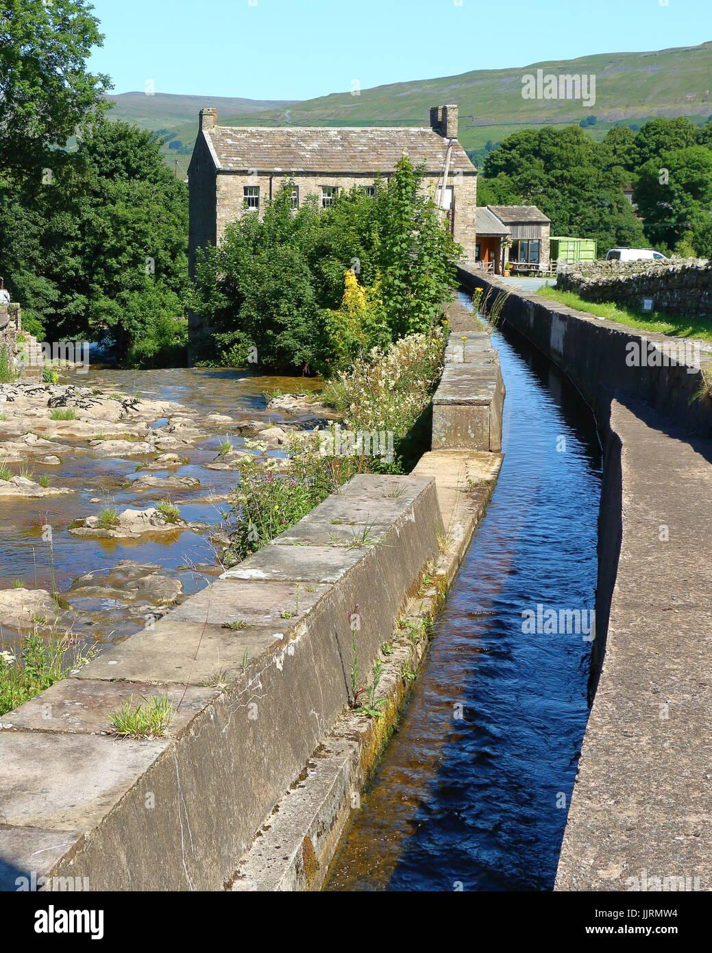 Gayle Mill, Wensleydale, Yorkshire Dales National Park, England, UK Stock Photo