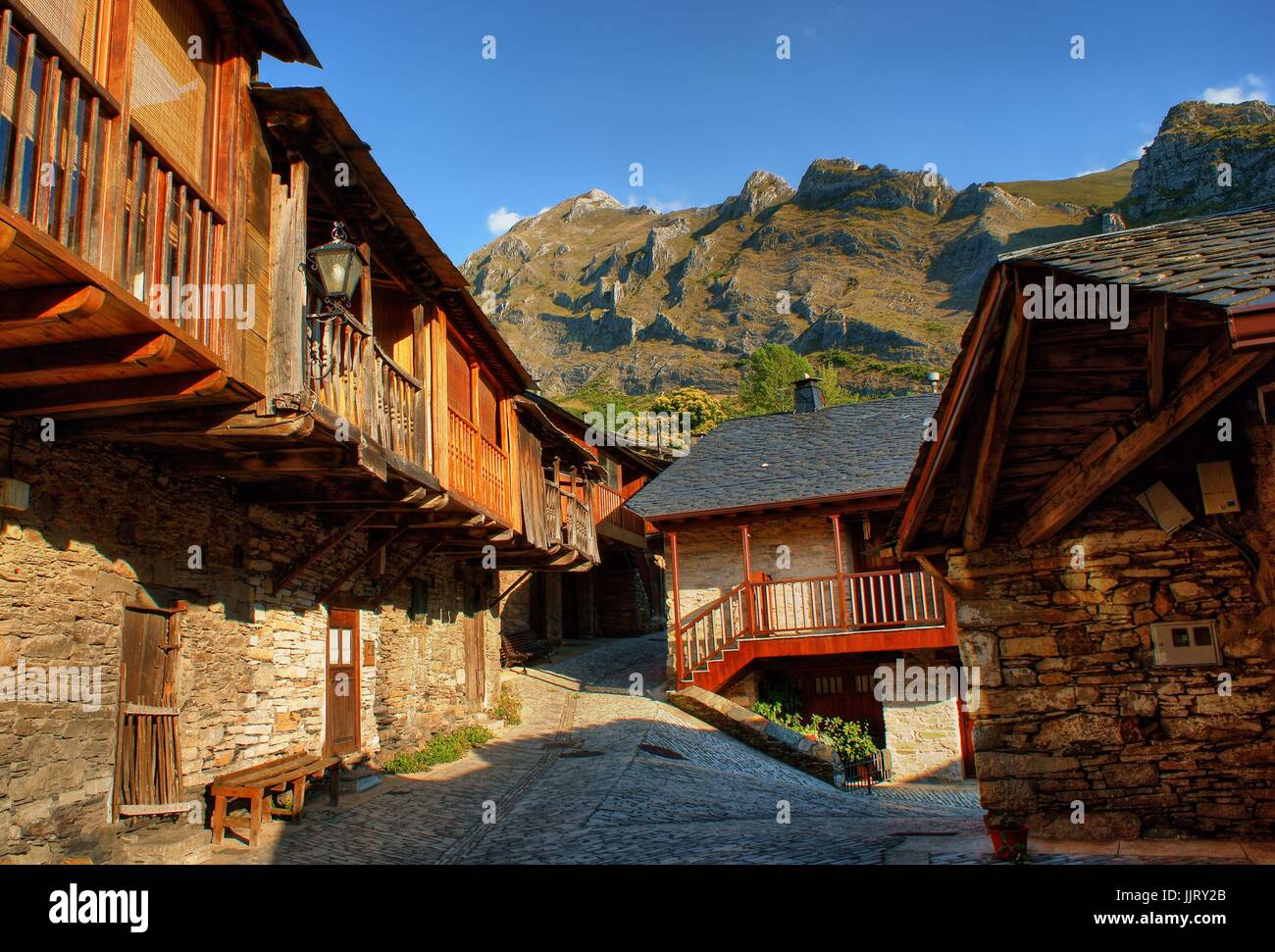 Penalba de Santiago, a typical village in the valley of silence, Leon, Spain - Stock Image
