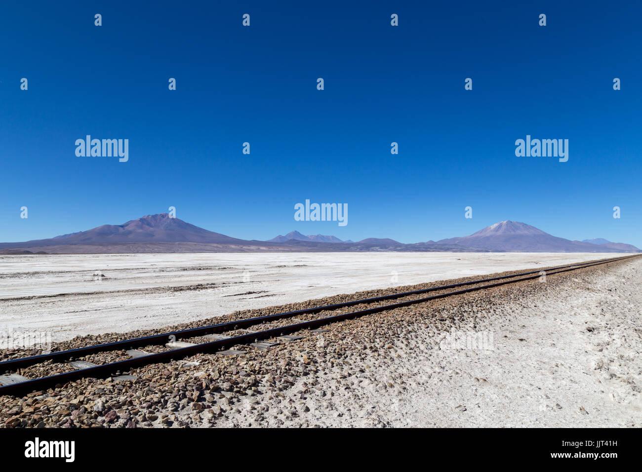 Salar de Uyuni in Bolivia - Stock Image