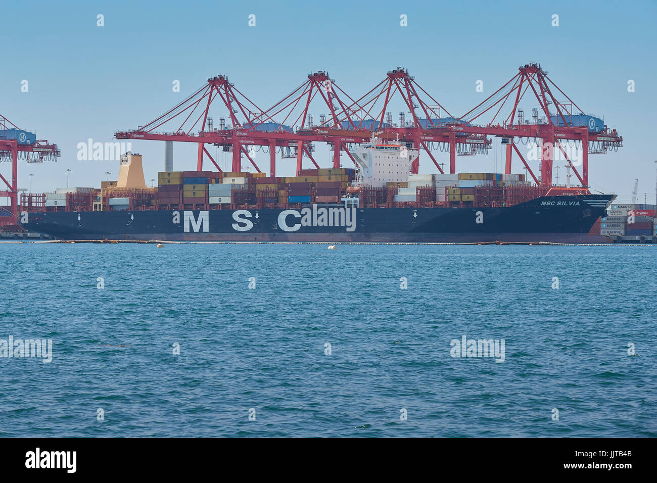the giant mediterranean shipping company container ship msc silvia