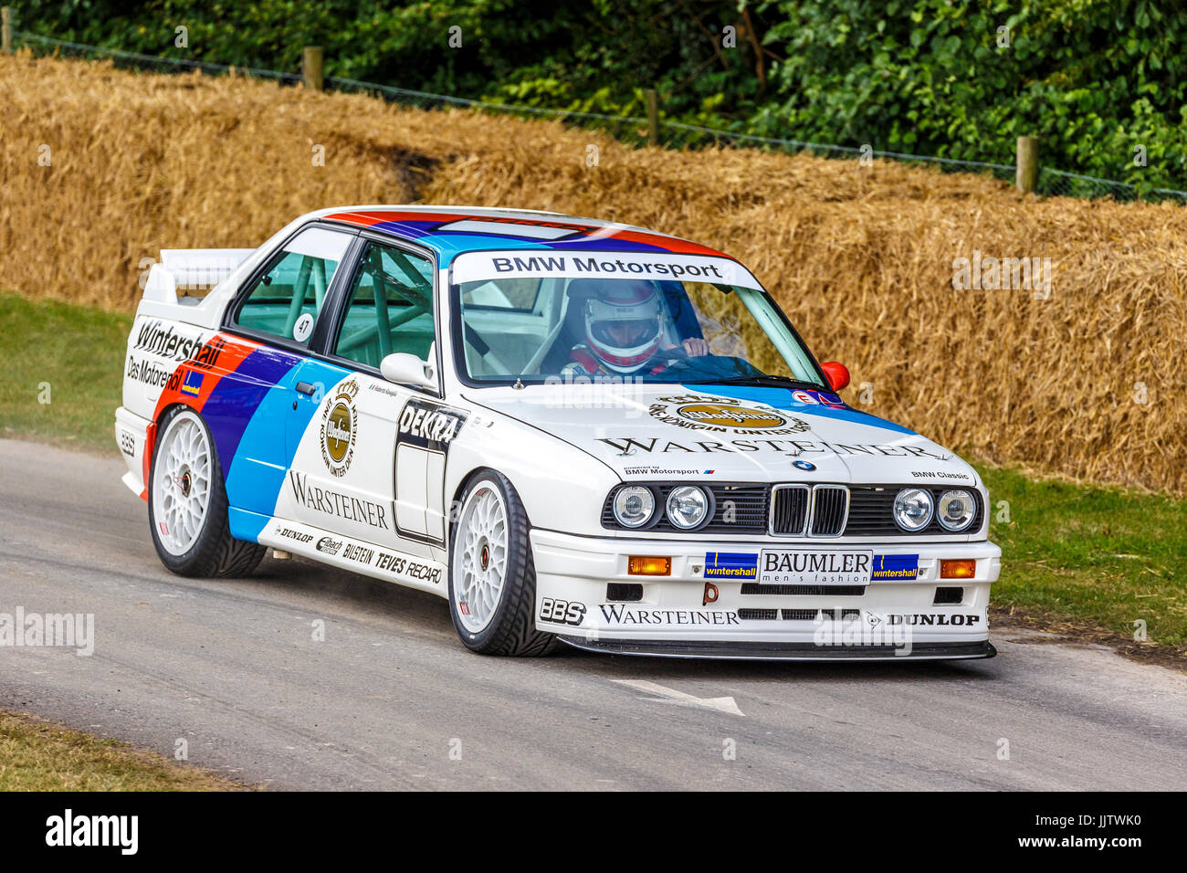 1987 BMW M3 E30 BTCC and WTCC racer with driver Roberto Ravaglia at ...