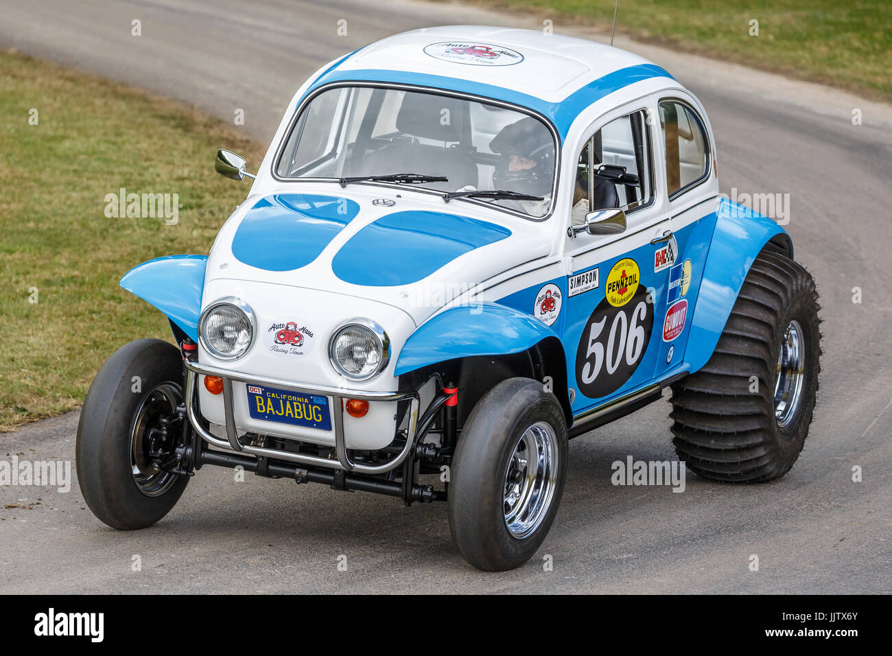 1979 Tamiya Sand Scorcher, Baja Volkswagen Beetle repro of the model toy at the 2017 Goodwood Festival of Speed, - Stock Image