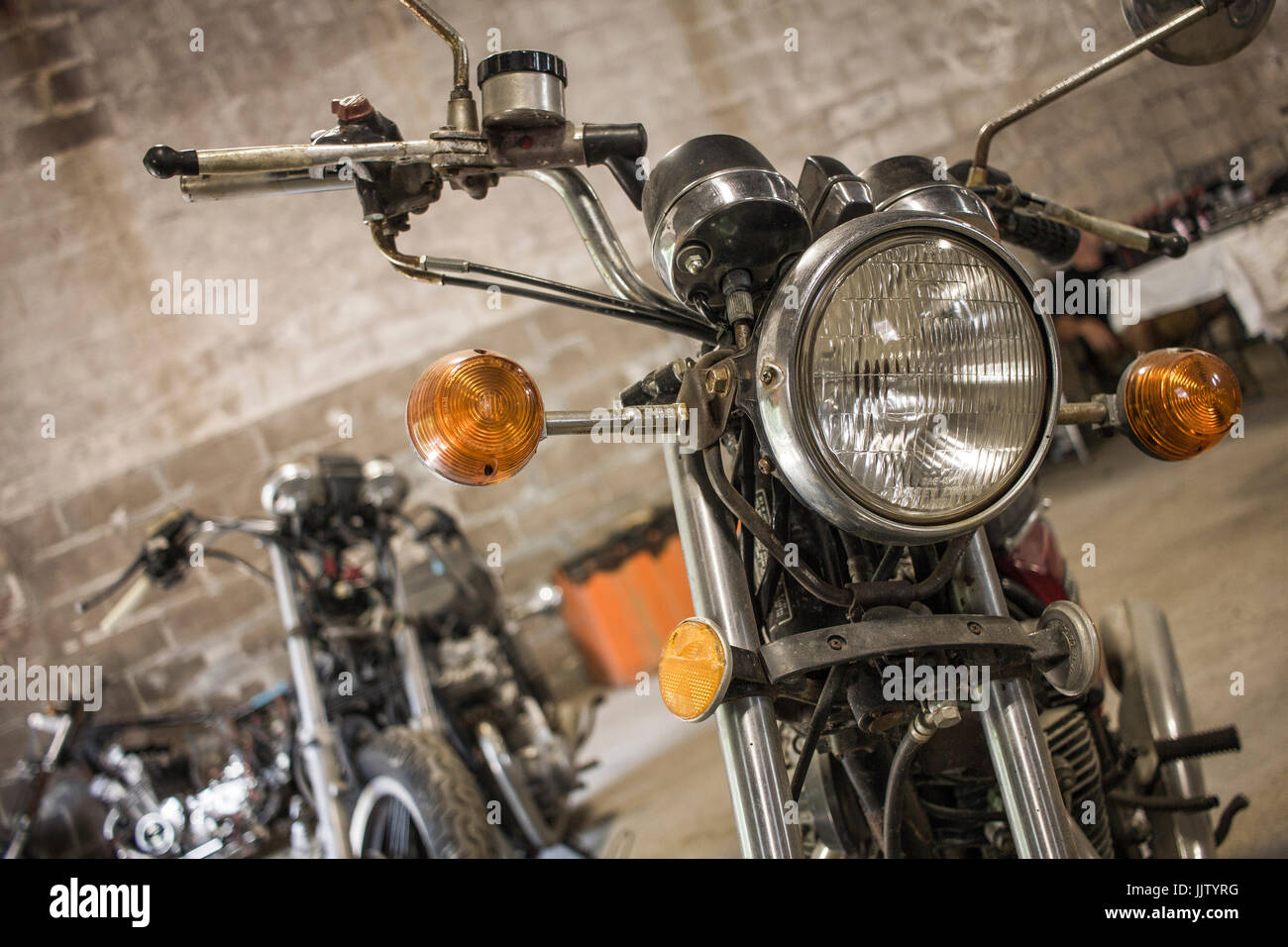 Vintage Bike Show at The Yard in Manlius - Stock Image