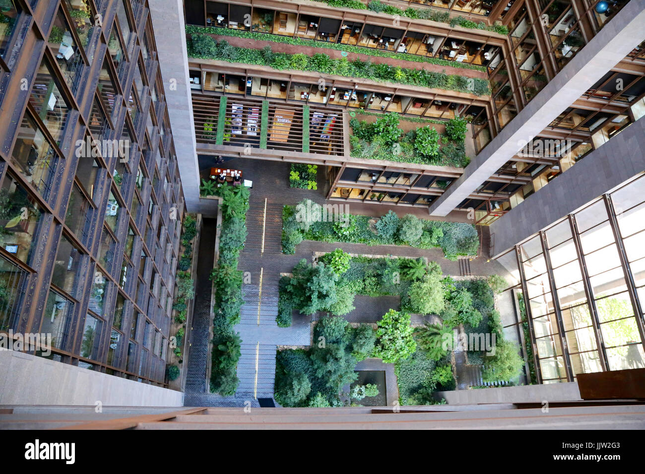 Inside the ford foundation building in new york ny usa