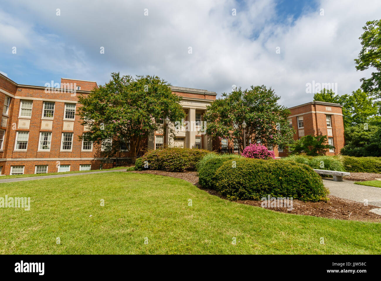 Physics Building on June 18, 2017 at Duke University in Durham, North Carolina. - Stock Image