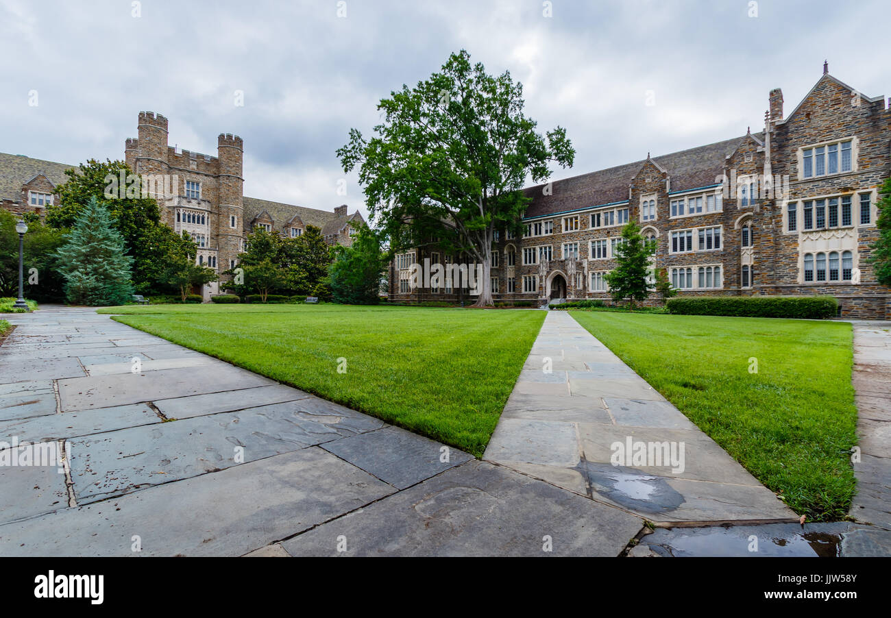 Sociology-Psychology Building on June 18, 2017 at Duke University in Durham, North Carolina. - Stock Image