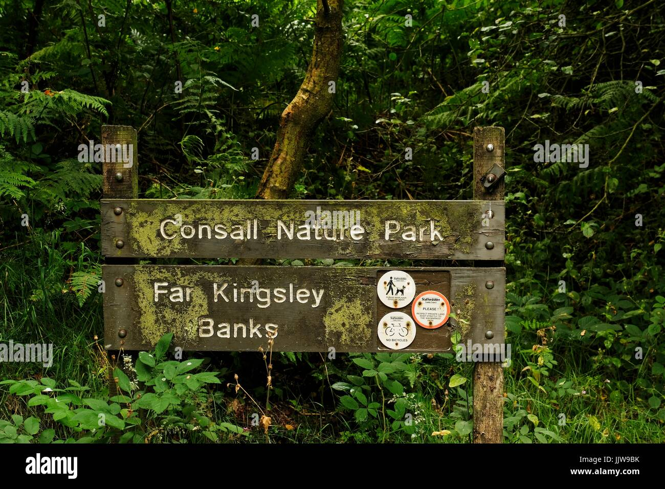 Wooden Sign - Stock Image