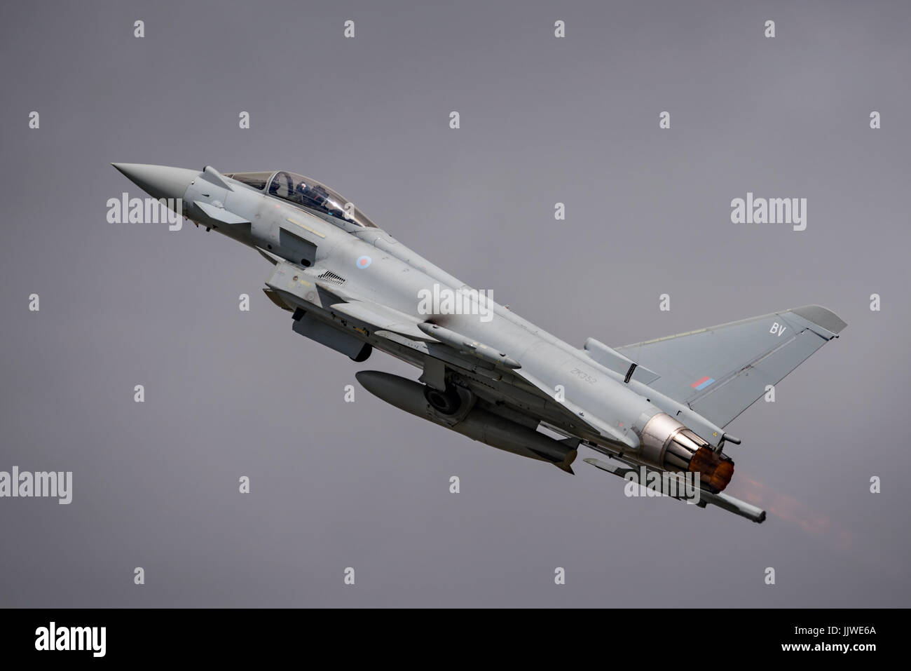 RAF Typhoon FGR4 display at RIAT 2017. - Stock Image