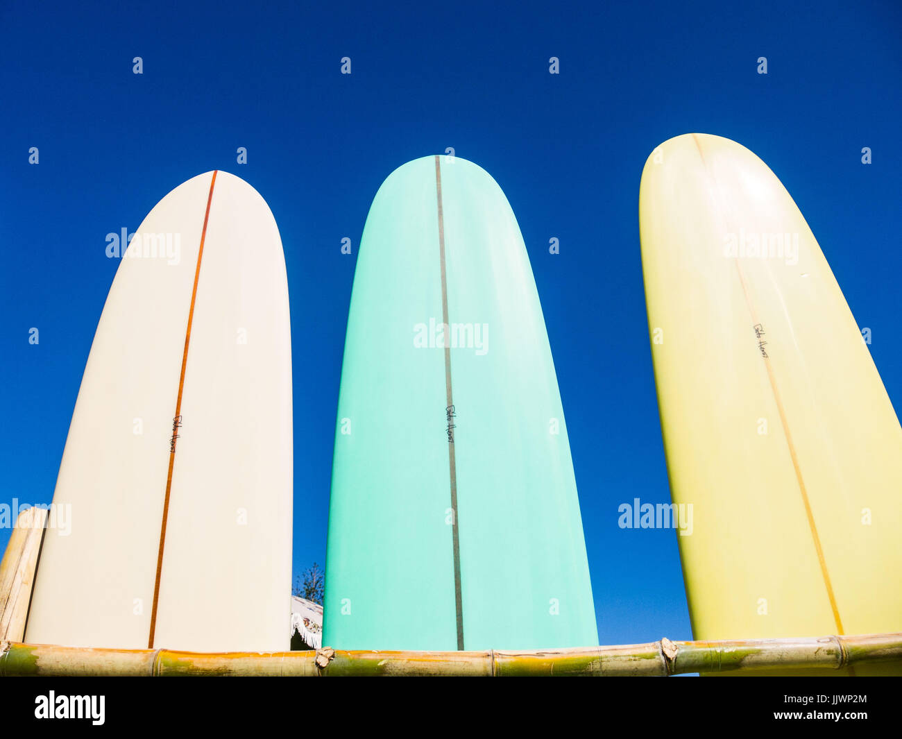 Surfboards On Sale At Surf Festival In Byron Bay Stock Photo