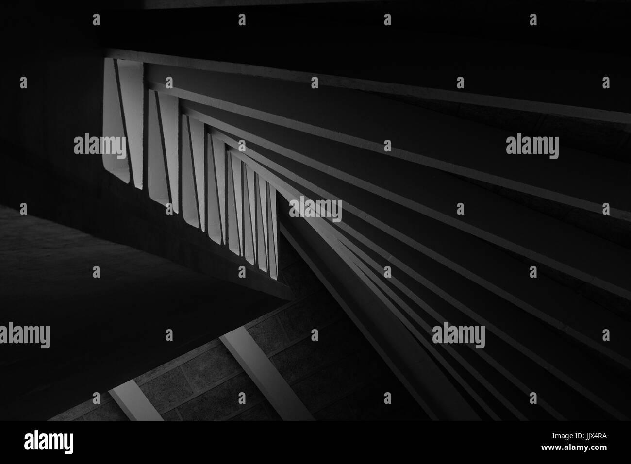 Shaft of lights enters building - Stock Image