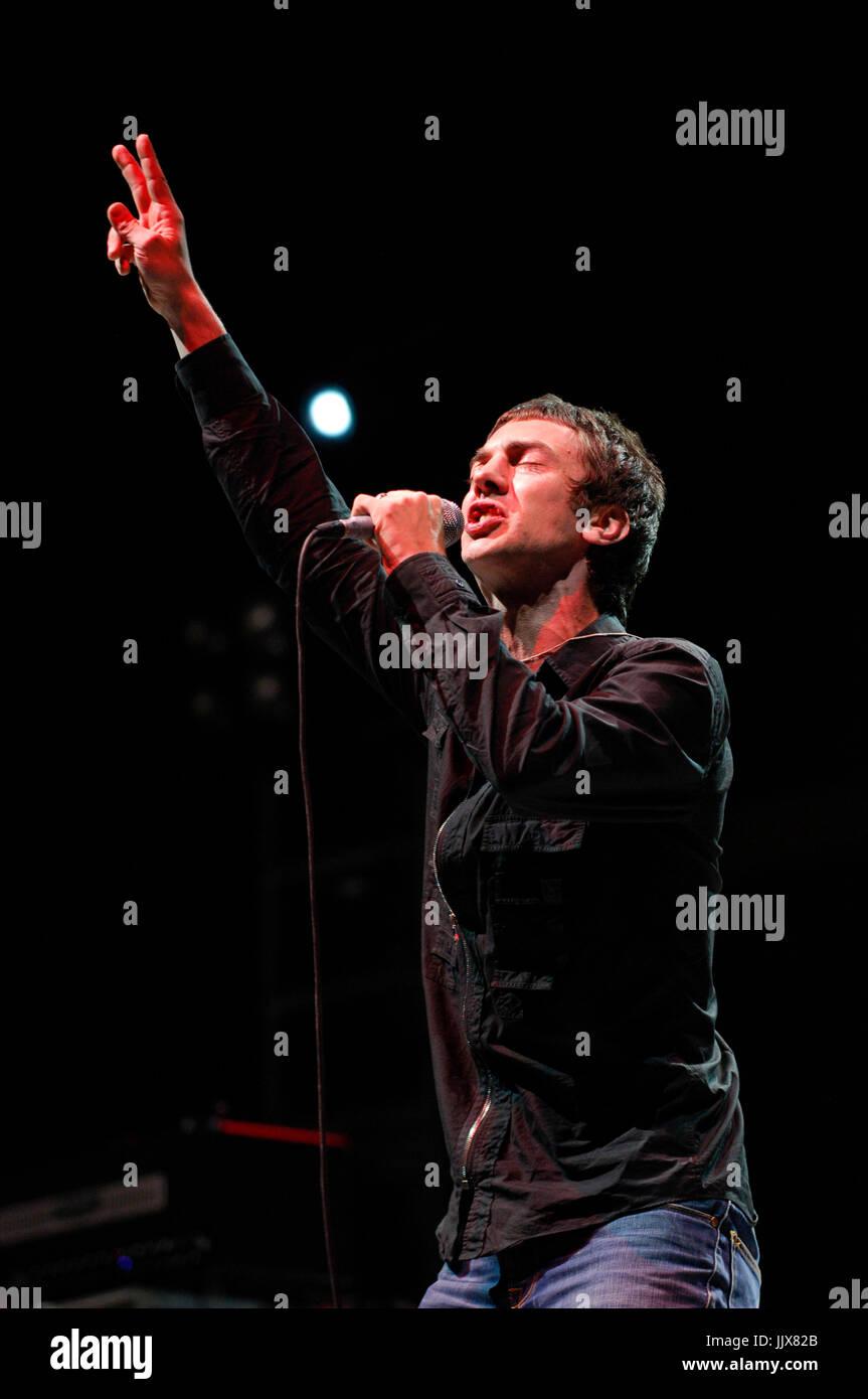 Richard Ashcroft Verve performing 2008 Coachella festival Indio. Stock Photo