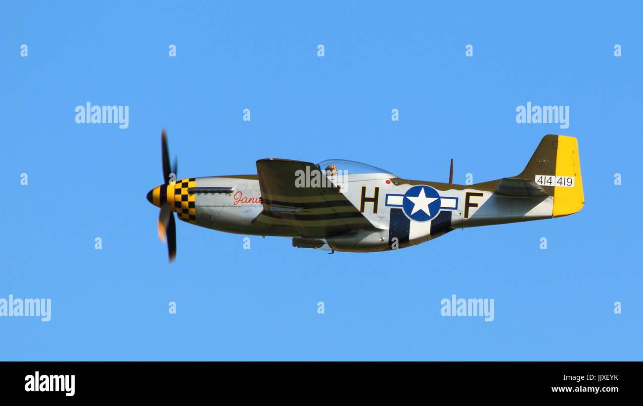 USAF WW2 P51 Mustang - Stock Image