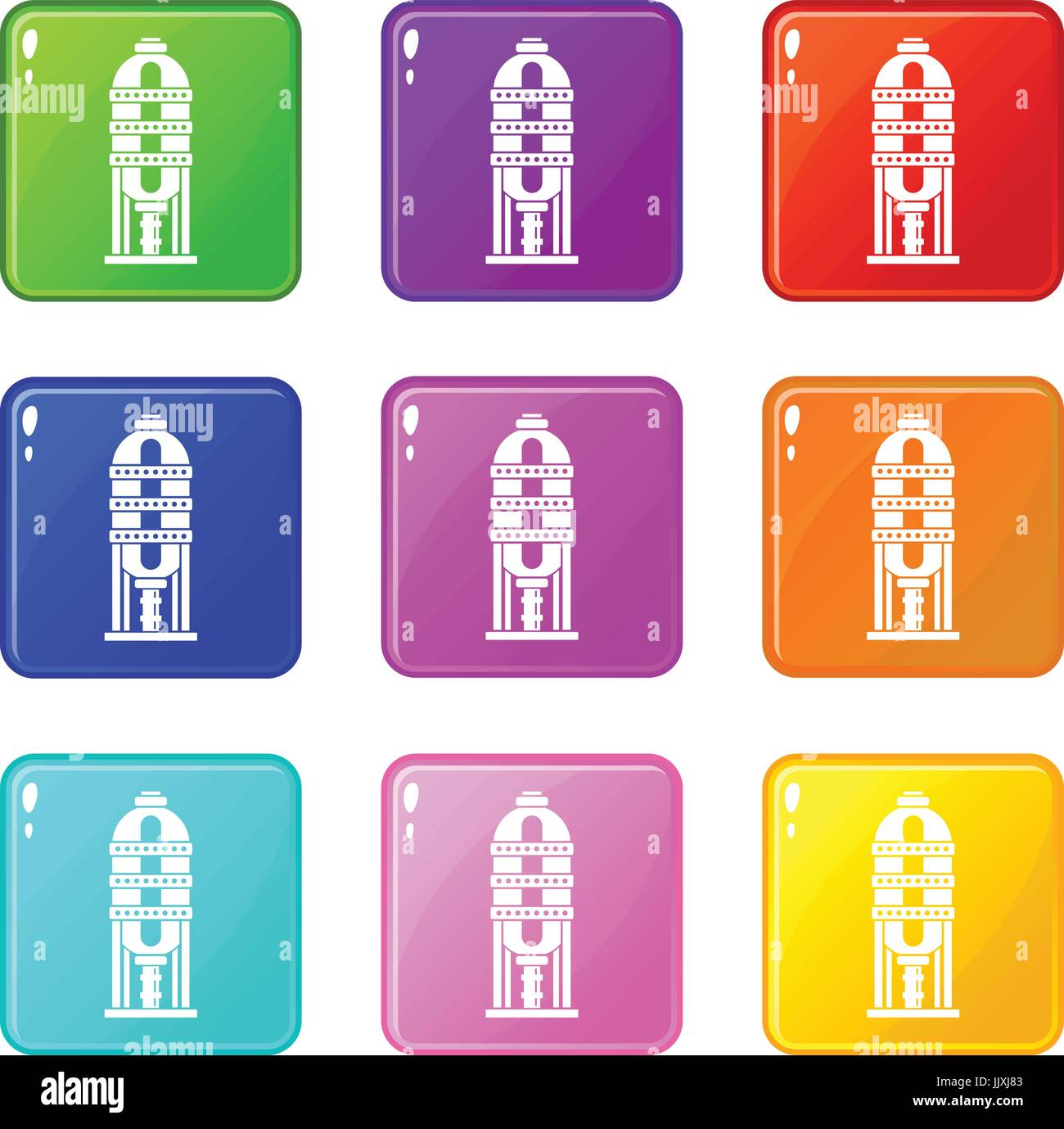 Capacity for oil storage set 9 - Stock Vector