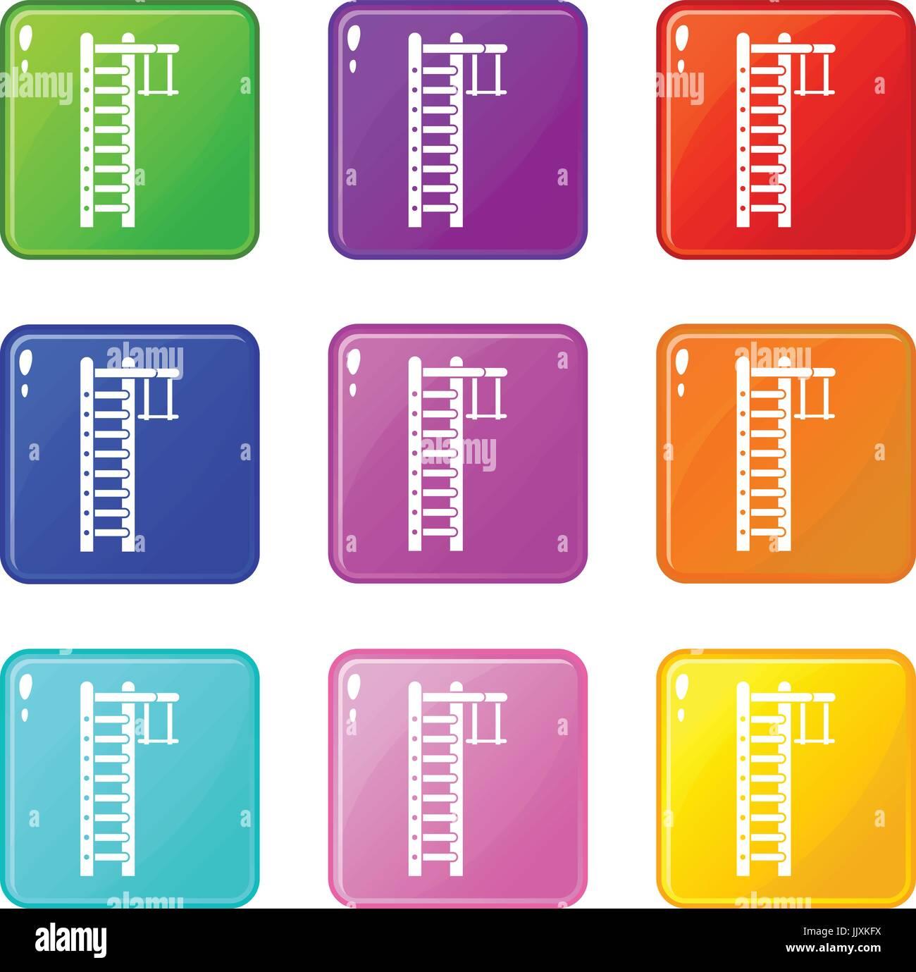 Swedish ladder set 9 - Stock Image