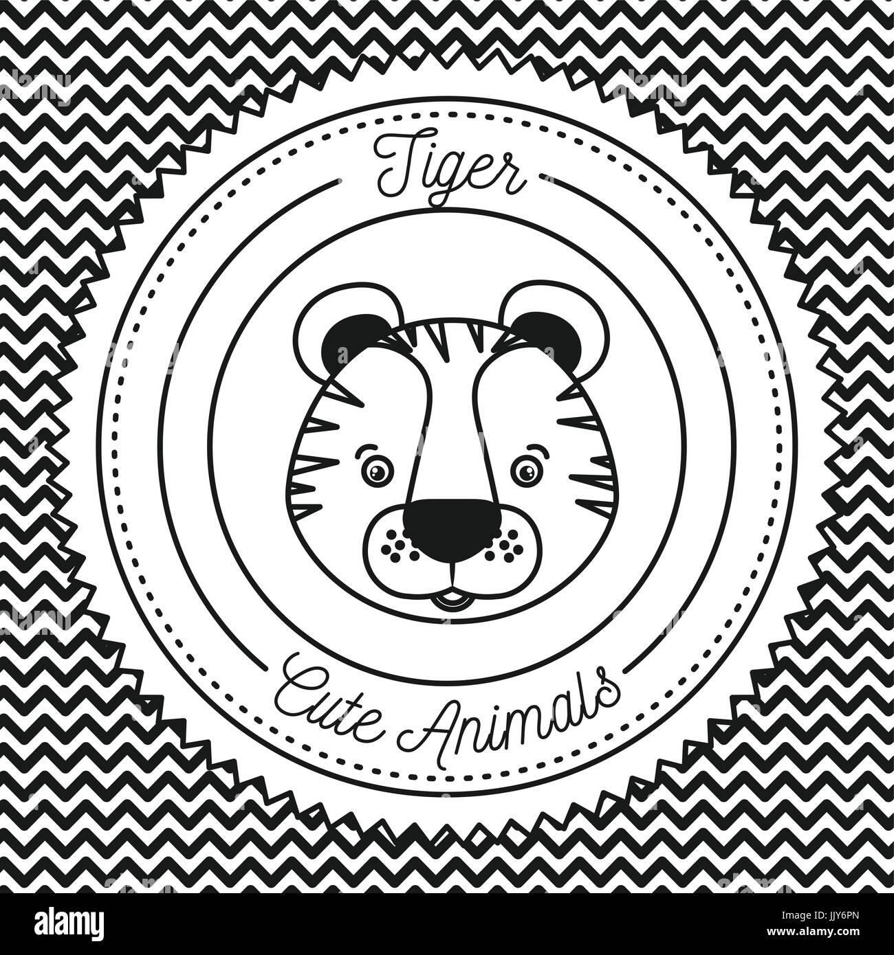 irregular baby stock photos irregular baby stock images alamy  monochrome irregular lines background with silhouette frame decorative and face tiger cute animals text stock
