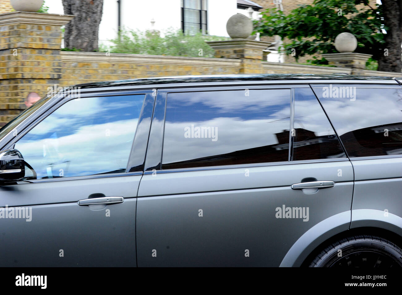 London, UK. 20th July, 2017. Petra Stunt Personalised Plate Car Returning Home in Chelsea After Court Hearing at - Stock Image