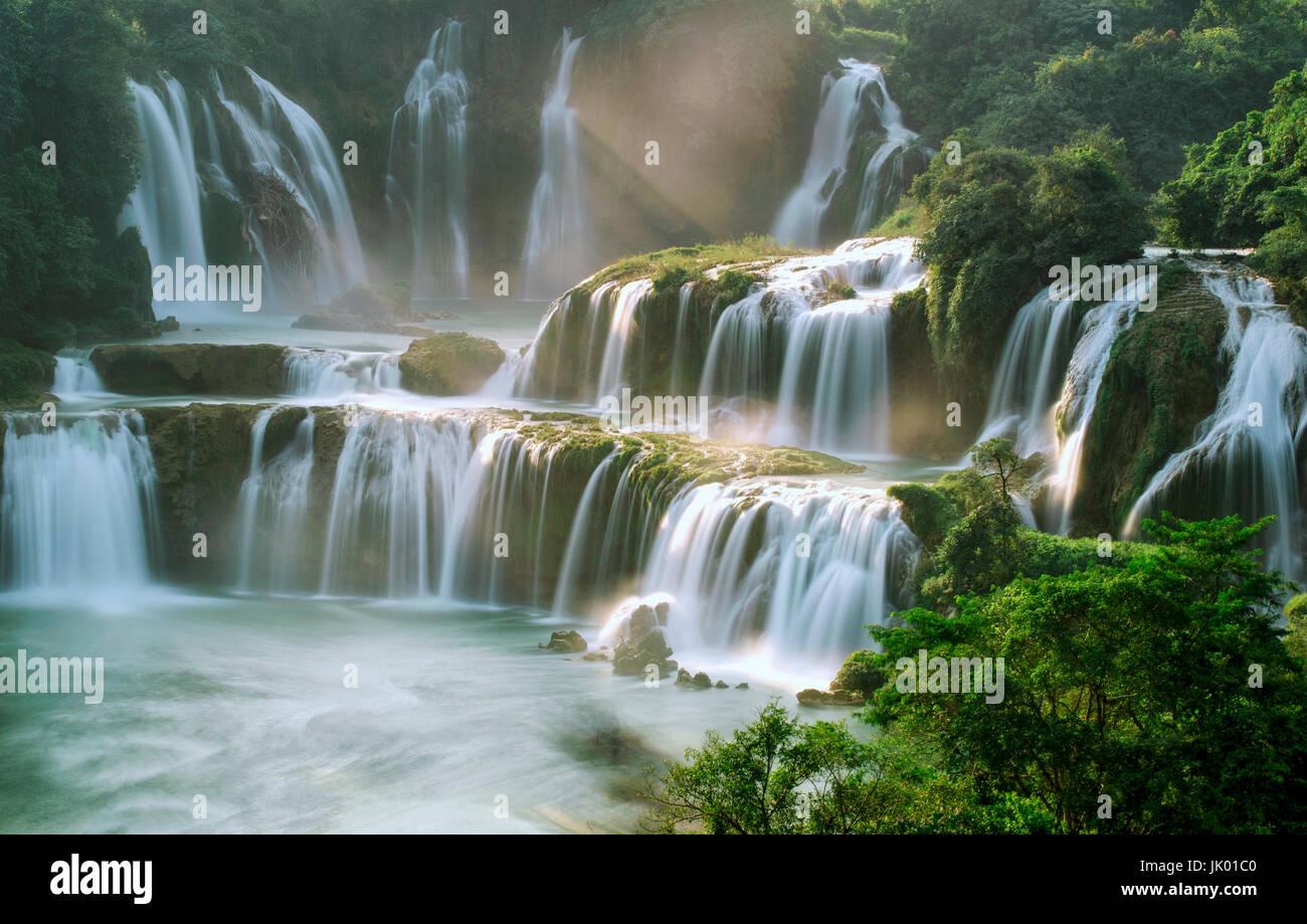 Ban Gioc waterfall - Cao Bang - Stock Image