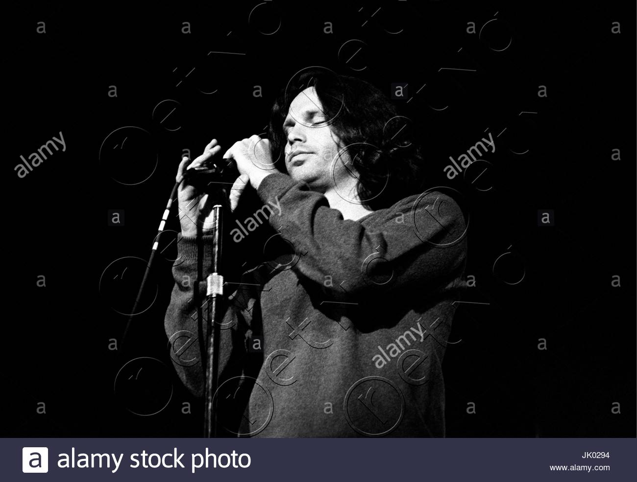 Jim Morrison of The Doors performing at the Boston Arena in Boston MA on April 10 1970. During this concert Jim Morrison asked the audience if \ anyone ...  sc 1 st  Alamy & Jim Morrison of The Doors performing at the Boston Arena in Boston ...