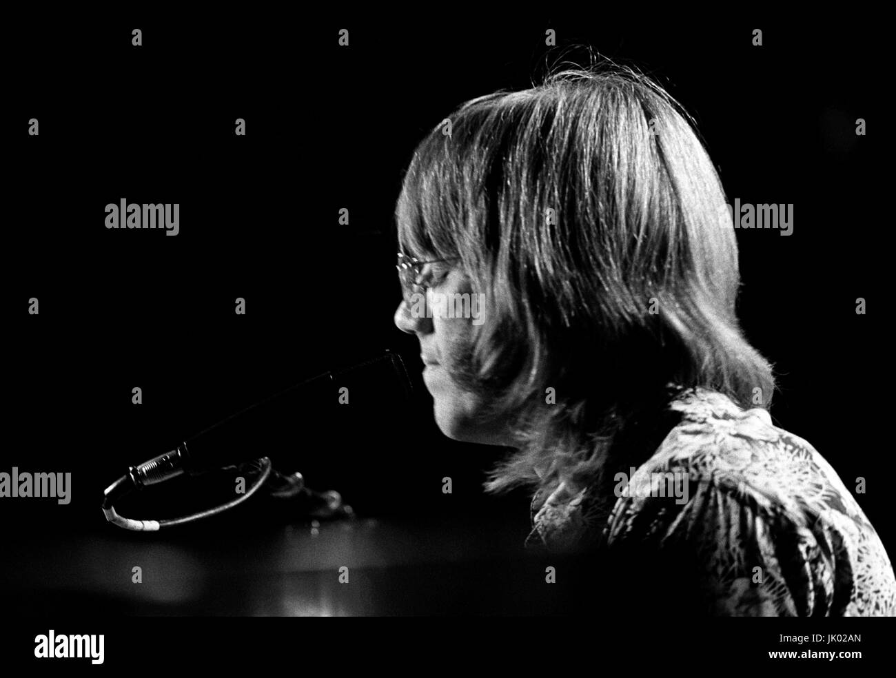 Ray Manzarek of The Doors performing at the Boston Arena in Boston MA on April 10 1970. During this concert Jim Morrison asked the audience if  anyone ... & Ray Manzarek of The Doors performing at the Boston Arena in Boston ...