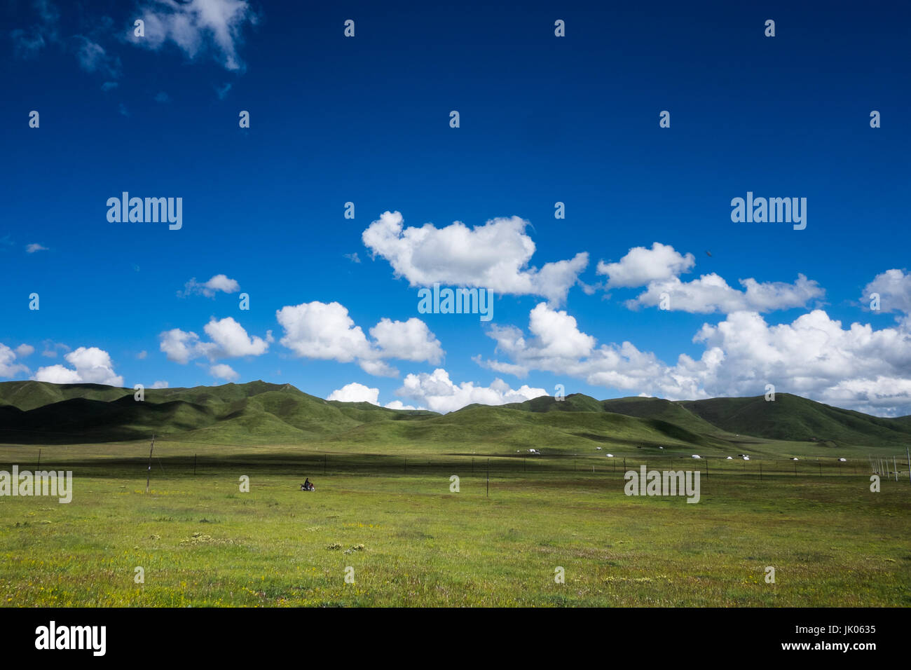 Plateau of Gansu province in China called little Tibet - Stock Image