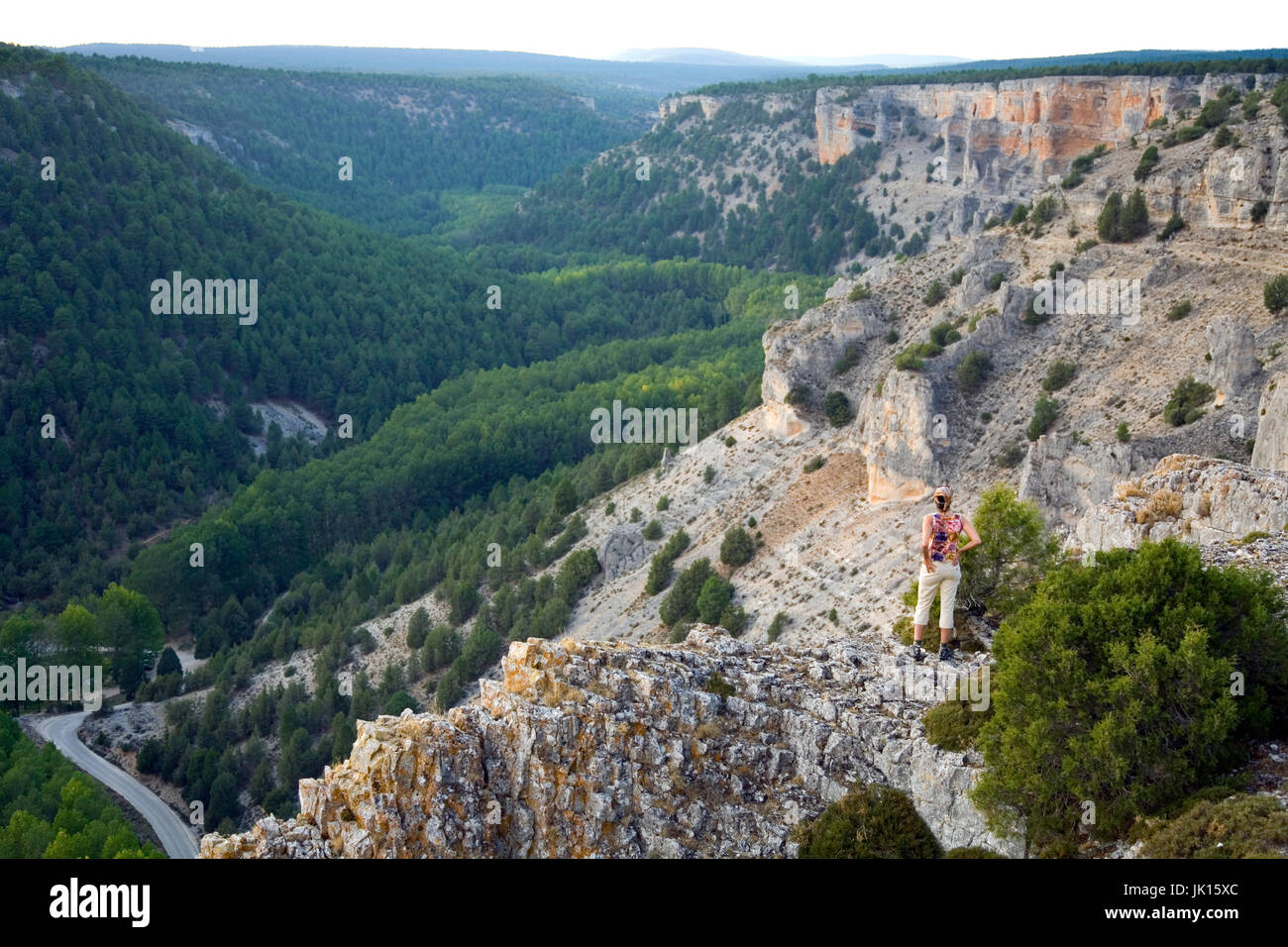 Cañon del  Rio Lobos  Natural Park .  Soria province, Castilla y Leon, Spain, Europe. - Stock Image