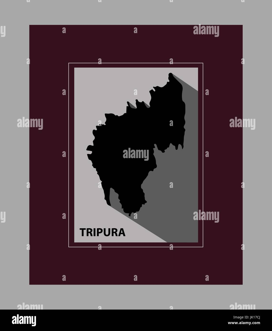 The State of Tripura - Stock Vector