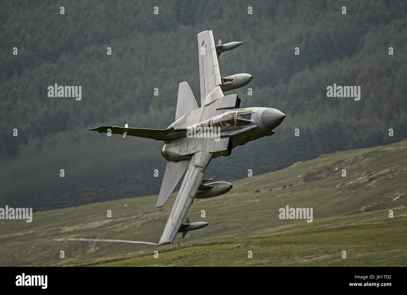 Royal Air Force Tornado GR4 on a Low Level training mission. - Stock Image