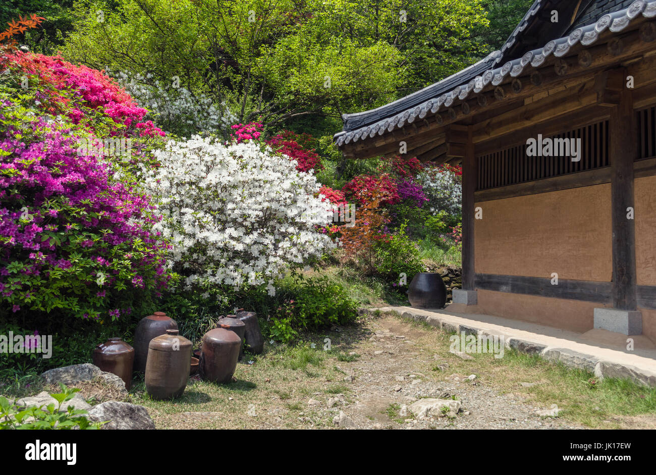 part of traditional korean house - Stock Image