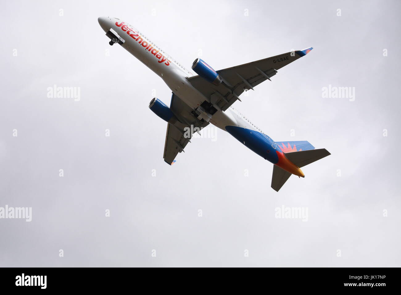 passinger jet, world travel - Stock Image