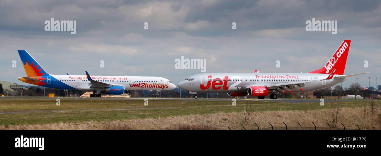 passinger jet, world travel - Stock Image